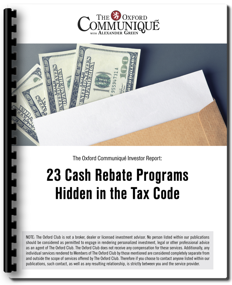 """In Our Guidebook €�23 Cash Rebate Programs Hidden In The Tax Code,"""" We'll  Show You How You Can Collect An Extra $79,687 On Your Social Security  Payments"""